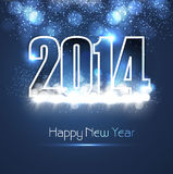 New year 2014 shiny blue colorful fantastic backgr Stock Images
