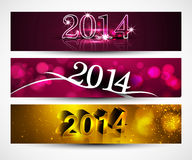 New year 2014 for shiny colorful headers and banne Stock Photo