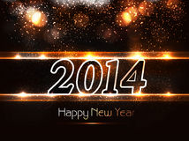 New year for shiny 2014 holiday bright colorful ca Stock Images