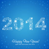 2014 New Year shiny invitation postcard Royalty Free Stock Image