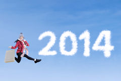 New year 2014 shopping time Stock Photo