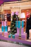 New year showcase lingerie store stock photo