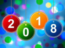 New Year Shows Two Thosand Eighteen And Annual Royalty Free Stock Photography