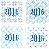 2016 new year sign on abstract background. Invitation card set Stock Photography