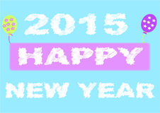 New year sign with balloon Royalty Free Stock Image
