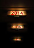 2014 new year sign Stock Images