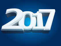 New Year sign 2017. 2017 New Year sign on blue background Stock Photo
