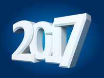 New Year sign 2017. 2017 New Year sign on blue background Stock Images