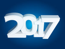 New Year sign 2017. 2017 New Year sign on blue background Royalty Free Stock Photo