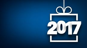 2017 New Year blue background. 2017 New Year sign on blue background. Vector illustration Royalty Free Stock Image