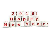 2016 New Year sign on bricks. On white vector illustration