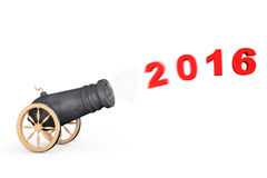 New 2016 Year Sign from Cannon Royalty Free Stock Photography