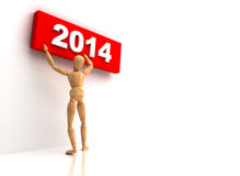 New Year 2014 Sign Royalty Free Stock Image
