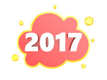 New year sign. 3d illustration of new 2017 year sign, isolated over white background Stock Images