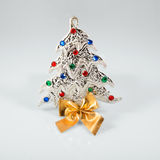 New year 2015 sign with сhristmas tree toy on Royalty Free Stock Photo
