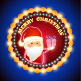 New year sign with light. Retro merry christmas and happy new year sign with light vector illustration vector illustration