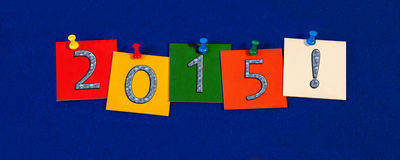 2014 New Year sign for New Years Eve Celebrations. 2015 - New Year sign royalty free stock photos