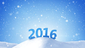 New year 2016 sign in snow drift. Computer generated graphic Royalty Free Stock Images