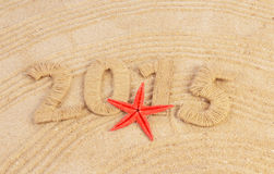 New year sign with starfish Stock Photos