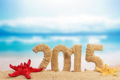 New year sign with starfish Royalty Free Stock Photography