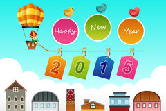 New Year 2015 sign. A vector illustration of New Year 2015 sign with copyspace Stock Photo