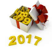 New Year sign 2017. 2017 New Year sign on white background Stock Photos