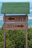 New Year 2014 sign Royalty Free Stock Photos