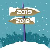 New Year signpost stock photos