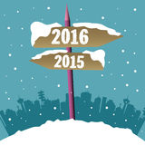 New year signpost royalty free stock photography