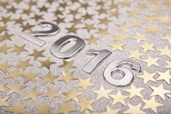 New Year 2016 on Silver Background royalty free stock photo
