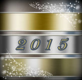 New Year 2015. New Year silver illustration 2015 stock illustration