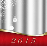 New Year 2015. New Year silver illustration 2015 vector illustration
