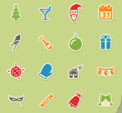 New year simply icons Royalty Free Stock Image