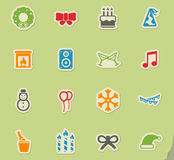 New year simply icons. New year simply symbols for web icons Royalty Free Stock Photo