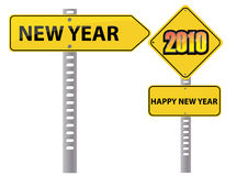 New year singboard Royalty Free Stock Photography