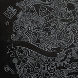 New Year sketch chalkboard Royalty Free Stock Image
