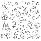 New Year sketch Set Stock Photography
