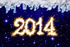 New Year 2014. 2014 New Year Sky Background Royalty Free Illustration