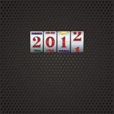 New year in slot machine Stock Image