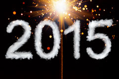 New Year 2015, smoke style digits Royalty Free Stock Photos