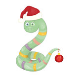 New Year snake. Vector illustration Stock Photo
