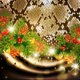 New Year Snake Background Stock Photography