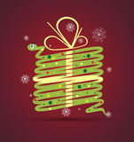 New year snake gift box card background. Vector Stock Photos