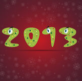 New year snake gift card background Stock Photo