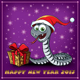 New Year Snake. Greeting Card. Royalty Free Stock Photo