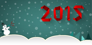 New year 2015. Snow background Royalty Free Stock Images