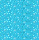 New Year Snow cartoon background. 2018 Vector snowflakes seamless pattern for Merry Christmas and Happy New Year greeting card background with falling snowflakes Stock Images