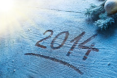 New Year 2014. Stock Photography