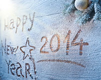 New Year 2014. Royalty Free Stock Photography