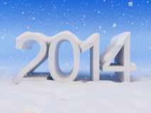 New Year and snow. 2014 and snow. See my other works in portfolio royalty free illustration
